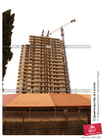 Купить «Строительство в г.Сочи», фото № 241424, снято 23 марта 2008 г. (c) Лифанцева Елена / Фотобанк Лори