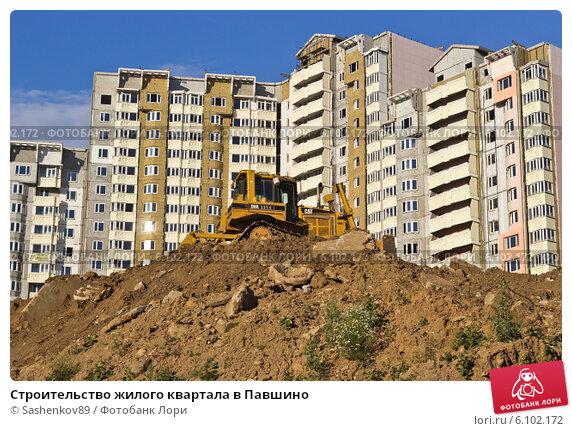 Купить «Строительство жилого квартала в Павшино», фото № 6102172, снято 7 июля 2014 г. (c) Sashenkov89 / Фотобанк Лори