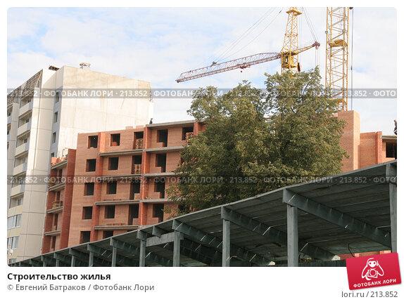 Строительство жилья, фото № 213852, снято 20 августа 2007 г. (c) Евгений Батраков / Фотобанк Лори