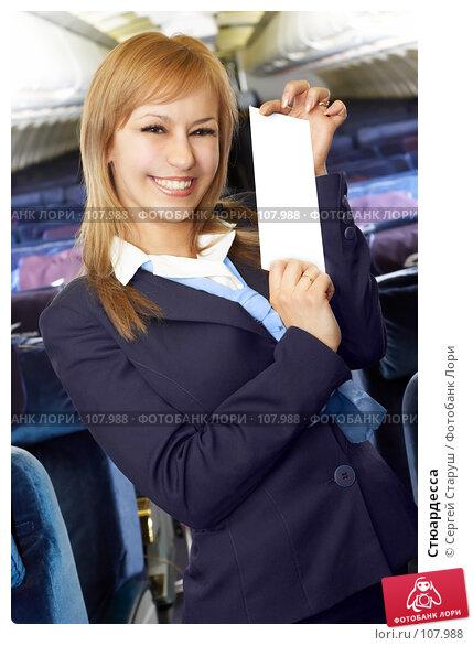Купить «Стюардесса», фото № 107988, снято 8 февраля 2007 г. (c) Сергей Старуш / Фотобанк Лори