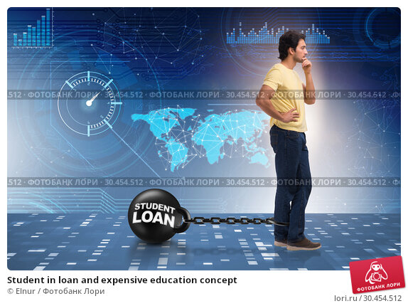 Student in loan and expensive education concept. Стоковое фото, фотограф Elnur / Фотобанк Лори