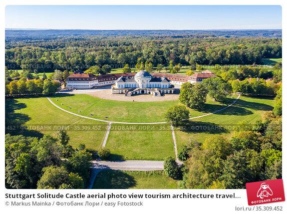 Stuttgart Solitude Castle aerial photo view tourism architecture travel... Стоковое фото, фотограф Markus Mainka / easy Fotostock / Фотобанк Лори