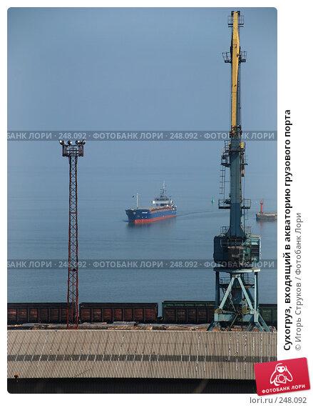 Сухогруз, входящий в акваторию грузового порта, фото № 248092, снято 9 апреля 2008 г. (c) Игорь Струков / Фотобанк Лори
