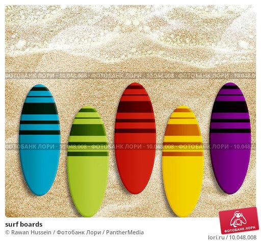 Купить «surf boards», фото № 10048008, снято 19 февраля 2019 г. (c) PantherMedia / Фотобанк Лори