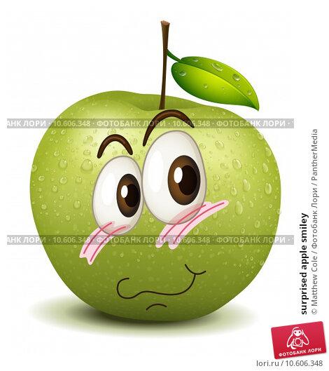surprised apple smiley. Стоковая иллюстрация, иллюстратор Matthew Cole / PantherMedia / Фотобанк Лори