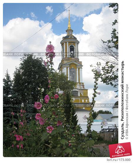 Суздаль, Ризоположенский монастырь, фото № 173000, снято 18 августа 2006 г. (c) ИВА Афонская / Фотобанк Лори