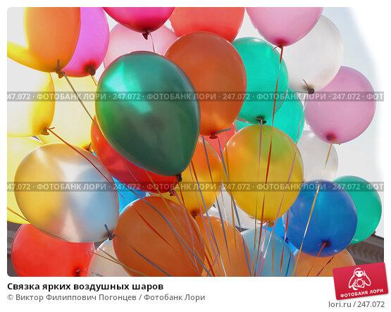 Связка ярких воздушных шаров, фото № 247072, снято 26 апреля 2007 г. (c) Виктор Филиппович Погонцев / Фотобанк Лори