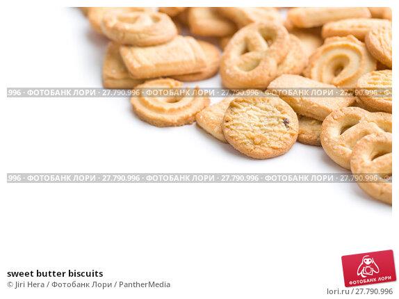 Купить «sweet butter biscuits», фото № 27790996, снято 24 октября 2018 г. (c) PantherMedia / Фотобанк Лори