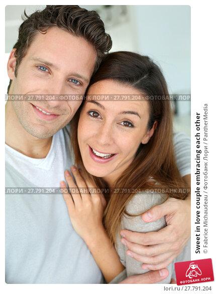 Купить «Sweet in love couple embracing each other», фото № 27791204, снято 19 октября 2018 г. (c) PantherMedia / Фотобанк Лори