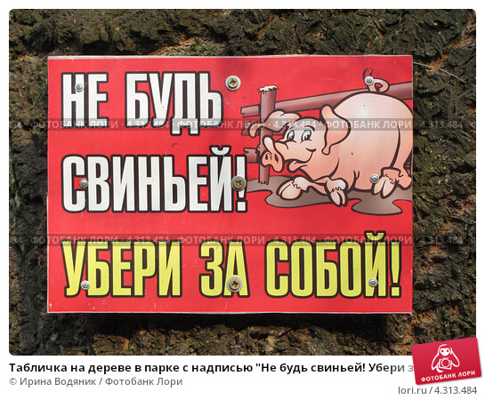 картинки не будь свиньёй убери за собой