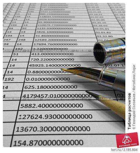 Купить «Таблица расчетов», фото № 2185804, снято 2 июня 2020 г. (c) Геннадий Соловьев / Фотобанк Лори