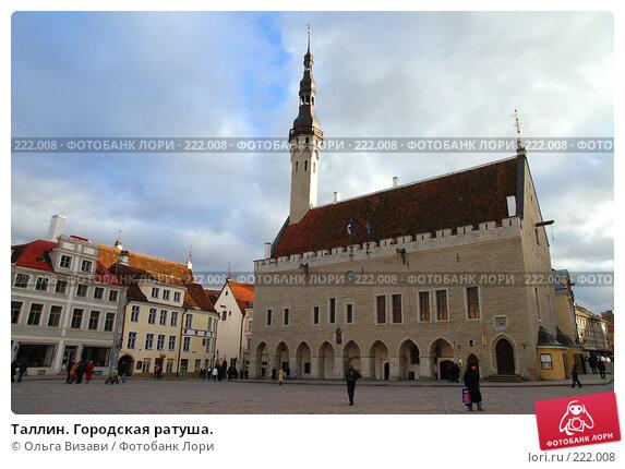 Таллин. Городская ратуша., эксклюзивное фото № 222008, снято 23 февраля 2008 г. (c) Ольга Визави / Фотобанк Лори