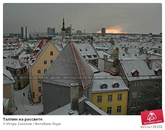 Таллин на рассвете, фото № 29032, снято 22 января 2017 г. (c) Игорь Соколов / Фотобанк Лори