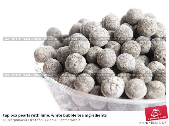 tapioca pearls with lime. white bubble tea ingredients. Стоковое фото, фотограф j sierpniowka / PantherMedia / Фотобанк Лори