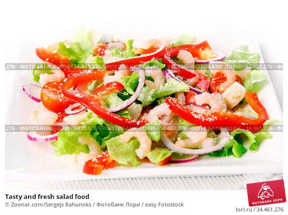 Tasty and fresh salad food. Стоковое фото, фотограф Zoonar.com/Sergejs Rahunoks / easy Fotostock / Фотобанк Лори