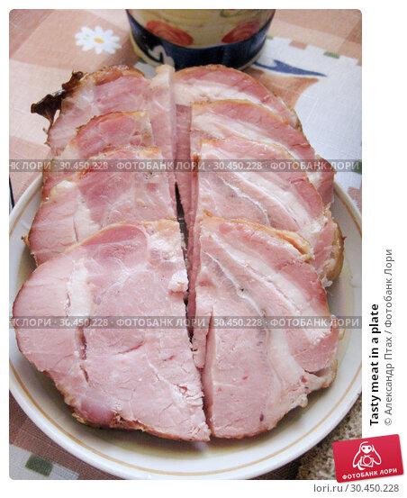 Tasty meat in a plate. Стоковое фото, фотограф Александр Птах / Фотобанк Лори