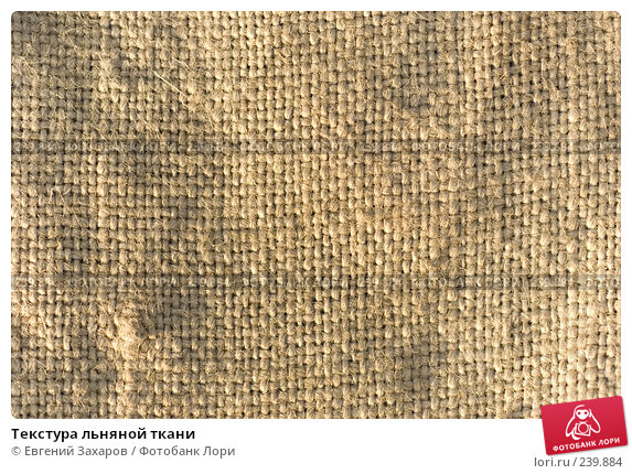Текстура льняной ткани, фото № 239884, снято 28 марта 2008 г. (c) Евгений Захаров / Фотобанк Лори