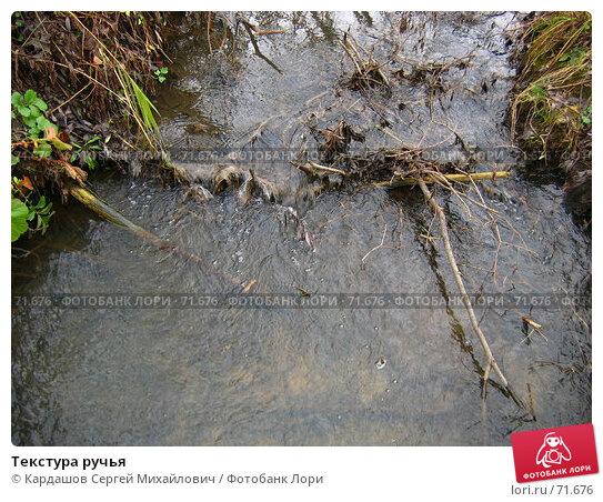 Текстура ручья, фото № 71676, снято 5 ноября 2006 г. (c) Кардашов Сергей Михайлович / Фотобанк Лори