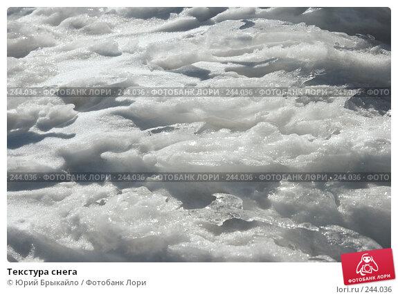 Текстура снега, фото № 244036, снято 29 марта 2008 г. (c) Юрий Брыкайло / Фотобанк Лори