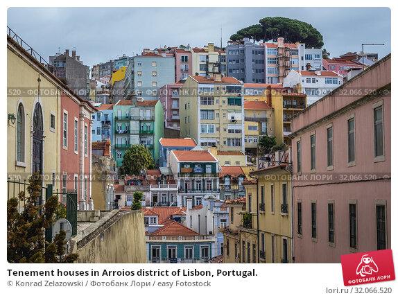 Tenement houses in Arroios district of Lisbon, Portugal. Стоковое фото, фотограф Konrad Zelazowski / easy Fotostock / Фотобанк Лори