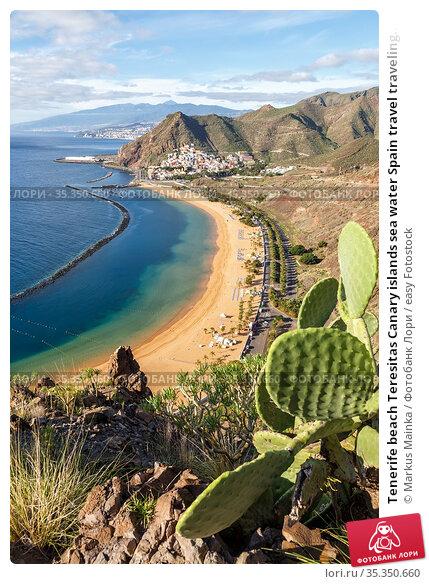 Tenerife beach Teresitas Canary islands sea water Spain travel traveling... Стоковое фото, фотограф Markus Mainka / easy Fotostock / Фотобанк Лори