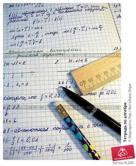 Тетрадь по алгебре, фото № 6220, снято 9 декабря 2016 г. (c) Маргарита Лир / Фотобанк Лори