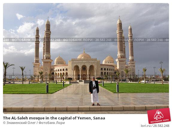 Купить «The AL-Saleh mosque in the capital of Yemen, Sanaa», фото № 28582248, снято 6 марта 2010 г. (c) Знаменский Олег / Фотобанк Лори