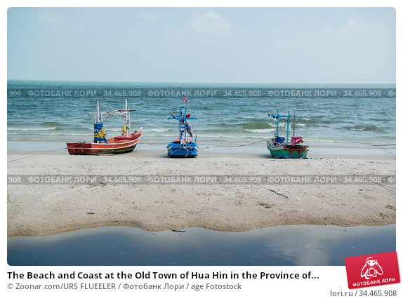 The Beach and Coast at the Old Town of Hua Hin in the Province of... Стоковое фото, фотограф Zoonar.com/URS FLUEELER / age Fotostock / Фотобанк Лори