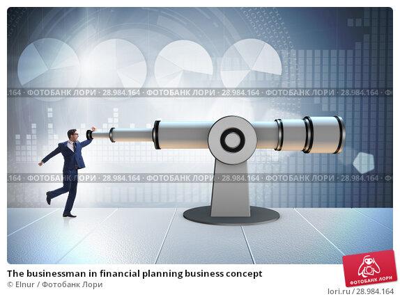 Купить «The businessman in financial planning business concept», фото № 28984164, снято 20 марта 2019 г. (c) Elnur / Фотобанк Лори
