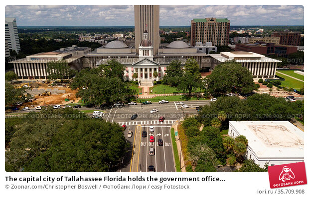 The capital city of Tallahassee Florida holds the government office... Стоковое фото, фотограф Zoonar.com/Christopher Boswell / easy Fotostock / Фотобанк Лори