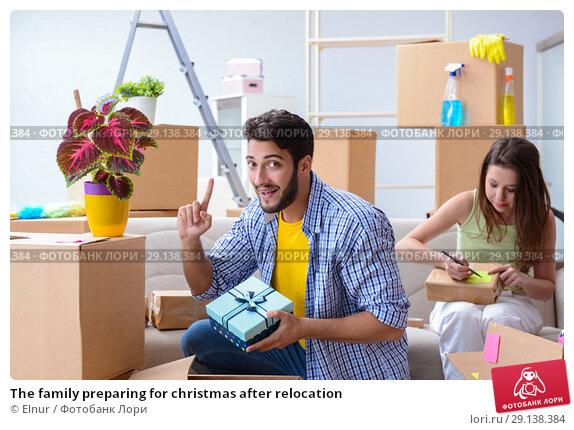 Купить «The family preparing for christmas after relocation», фото № 29138384, снято 10 июля 2017 г. (c) Elnur / Фотобанк Лори