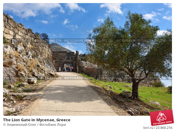 Купить «The Lion Gate in Mycenae, Greece», фото № 23860216, снято 23 сентября 2016 г. (c) Знаменский Олег / Фотобанк Лори