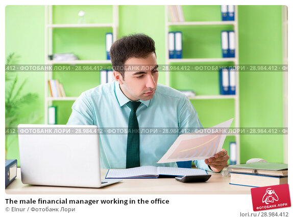 Купить «The male financial manager working in the office», фото № 28984412, снято 26 мая 2018 г. (c) Elnur / Фотобанк Лори