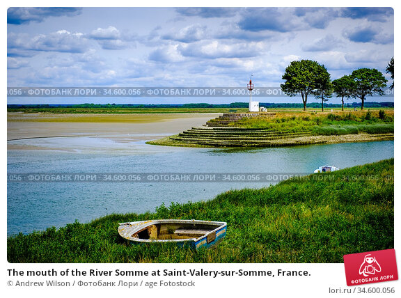 The mouth of the River Somme at Saint-Valery-sur-Somme, France. Стоковое фото, фотограф Andrew Wilson / age Fotostock / Фотобанк Лори