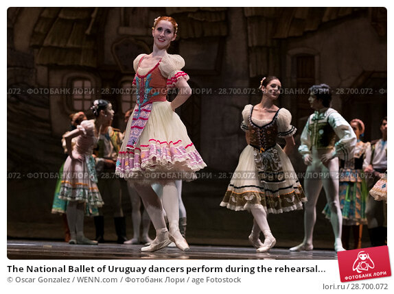 Купить «The National Ballet of Uruguay dancers perform during the rehearsal of 'Coppelia' at El Canal Theatre in Madrid Featuring: Atmosphere Where: Madrid, Spain...», фото № 28700072, снято 27 декабря 2016 г. (c) age Fotostock / Фотобанк Лори