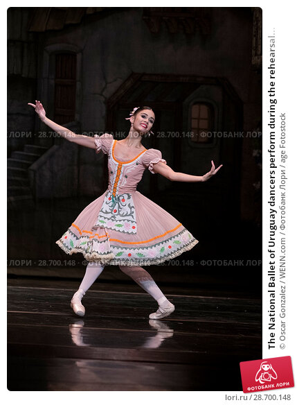 Купить «The National Ballet of Uruguay dancers perform during the rehearsal of 'Coppelia' at El Canal Theatre in Madrid Featuring: Atmosphere Where: Madrid, Spain...», фото № 28700148, снято 27 декабря 2016 г. (c) age Fotostock / Фотобанк Лори
