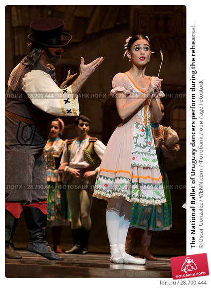 Купить «The National Ballet of Uruguay dancers perform during the rehearsal of 'Coppelia' at El Canal Theatre in Madrid Featuring: Atmosphere Where: Madrid, Spain...», фото № 28700444, снято 27 декабря 2016 г. (c) age Fotostock / Фотобанк Лори