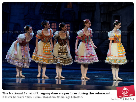 Купить «The National Ballet of Uruguay dancers perform during the rehearsal of 'Coppelia' at El Canal Theatre in Madrid Featuring: Atmosphere Where: Madrid, Spain...», фото № 28700648, снято 27 декабря 2016 г. (c) age Fotostock / Фотобанк Лори