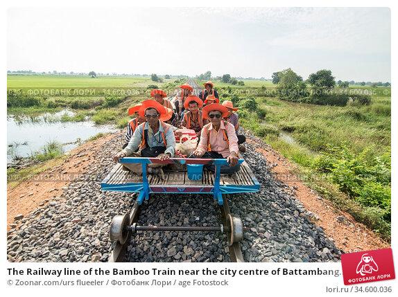 The Railway line of the Bamboo Train near the city centre of Battambang... Стоковое фото, фотограф Zoonar.com/urs flueeler / age Fotostock / Фотобанк Лори