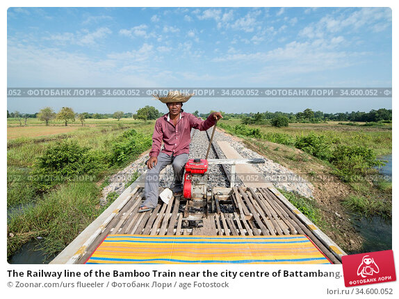 The Railway line of the Bamboo Train near the city centre of Battambang... Стоковое фото, фотограф Zoonar.com/urs flueeler / age Fotostock / Фотобанк Лори