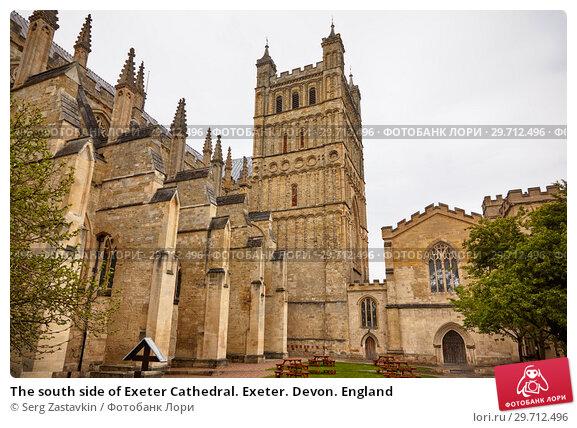 Купить «The south side of Exeter Cathedral. Exeter. Devon. England», фото № 29712496, снято 12 мая 2009 г. (c) Serg Zastavkin / Фотобанк Лори