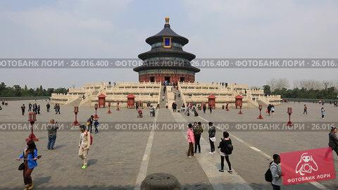 Купить «The Temple of Heaven in Beijing», видеоролик № 26016400, снято 4 апреля 2017 г. (c) Яна Королёва / Фотобанк Лори