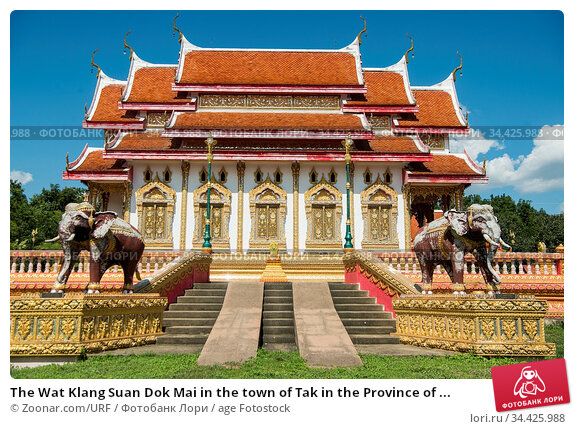 The Wat Klang Suan Dok Mai in the town of Tak in the Province of ... Стоковое фото, фотограф Zoonar.com/URF / age Fotostock / Фотобанк Лори