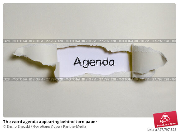 Купить «The word agenda appearing behind torn paper», фото № 27797328, снято 21 апреля 2019 г. (c) PantherMedia / Фотобанк Лори