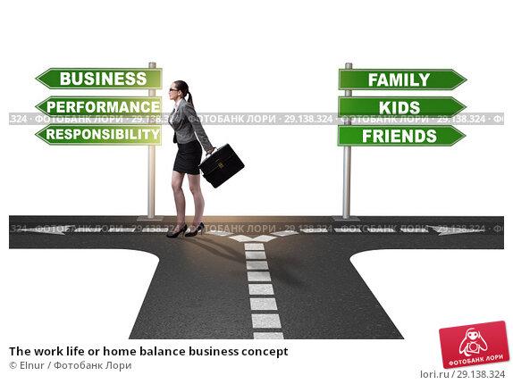 Купить «The work life or home balance business concept», фото № 29138324, снято 21 октября 2018 г. (c) Elnur / Фотобанк Лори