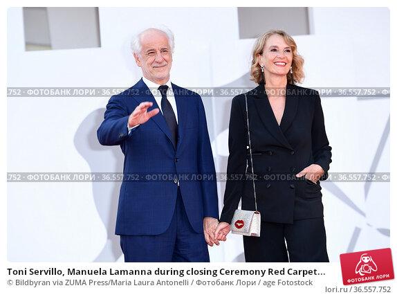 Toni Servillo, Manuela Lamanna during closing Ceremony Red Carpet... Редакционное фото, фотограф Bildbyran via ZUMA Press/Maria Laura Antonelli / age Fotostock / Фотобанк Лори