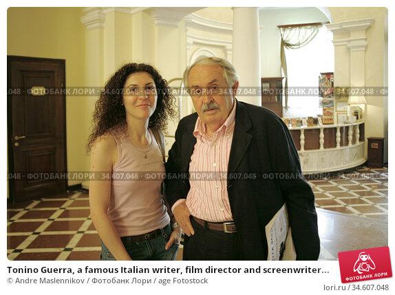 Tonino Guerra, a famous Italian writer, film director and screenwriter... (2006 год). Редакционное фото, фотограф Andre Maslennikov / age Fotostock / Фотобанк Лори
