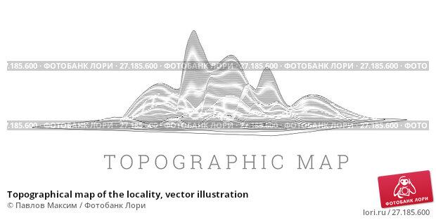 Купить «Topographical map of the locality, vector illustration», иллюстрация № 27185600 (c) Павлов Максим / Фотобанк Лори