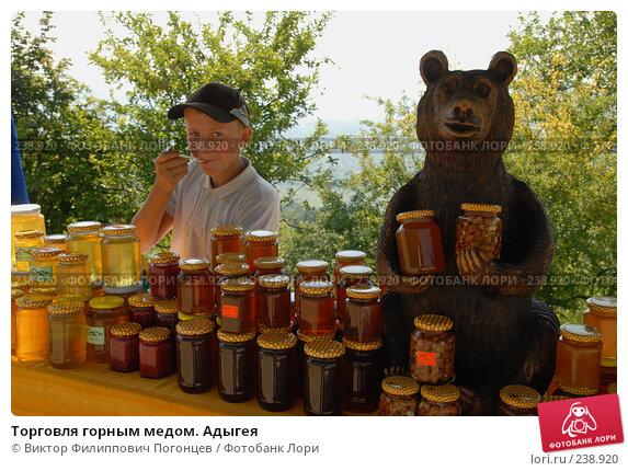Торговля горным медом. Адыгея, фото № 238920, снято 19 июля 2007 г. (c) Виктор Филиппович Погонцев / Фотобанк Лори