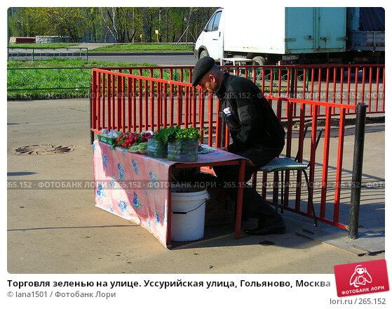 Купить «Торговля зеленью на улице. Уссурийская улица, Гольяново, Москва», эксклюзивное фото № 265152, снято 28 апреля 2008 г. (c) lana1501 / Фотобанк Лори